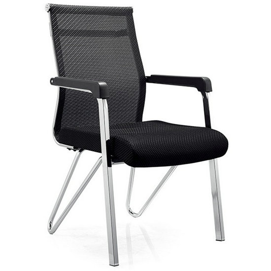 Black mesh conference visitor chair, best cheap office chair, office waiting room chairs