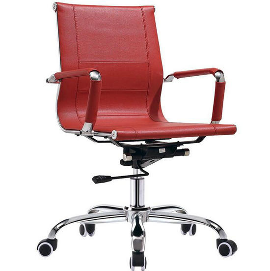 red leather office chair,low back office chair,cheap home office furniture