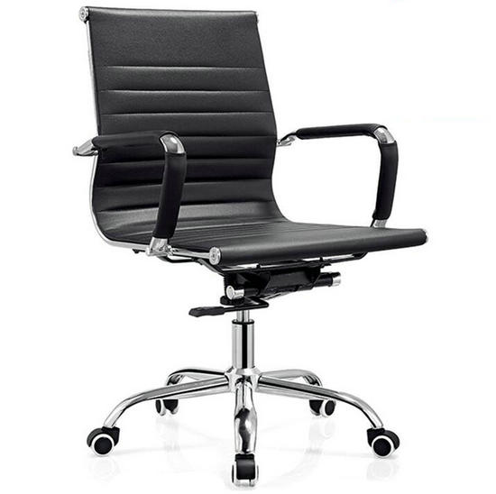 black leather low back office chair,meeting room chairs,cheap computer chair