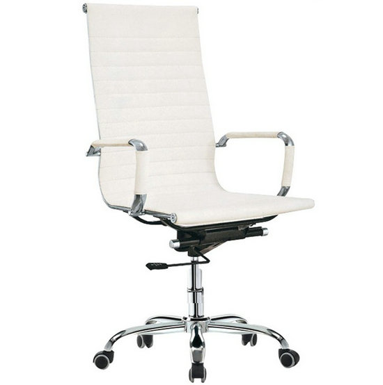 White PU Leather Office Chair,High Back Office Chair,office executive chairs