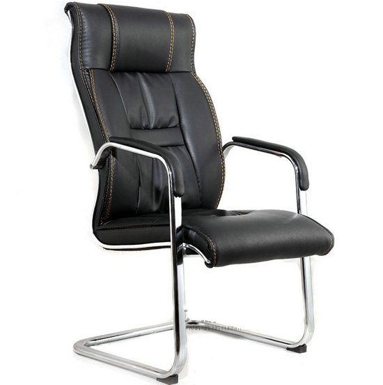 Modern Office furniture visitor leather office chair with no wheels
