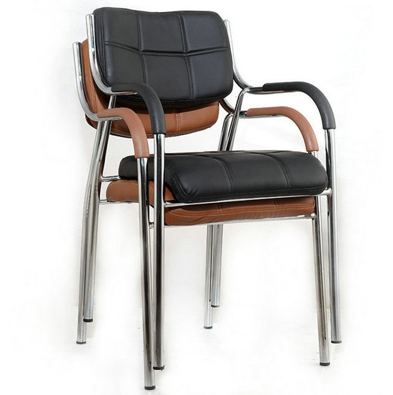 pu leather visitor chair chromed office chair good reception chair