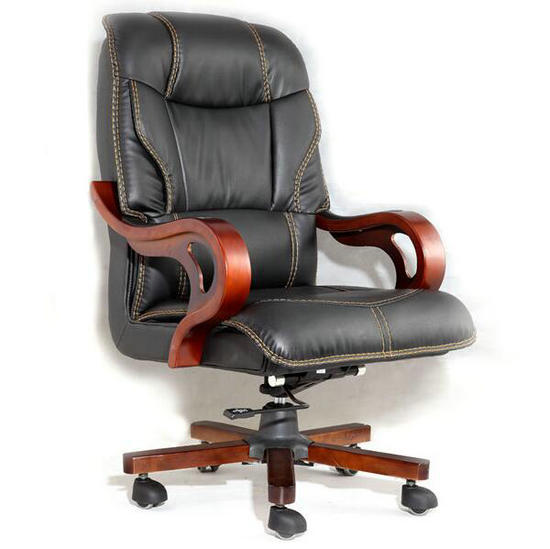 luxury recliner massage genuine leather executive wooden office chair
