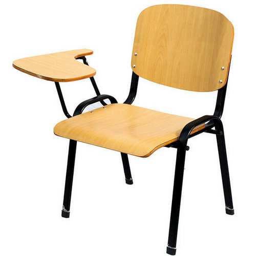 folding office chair,school folding training wooden chair with writing pad
