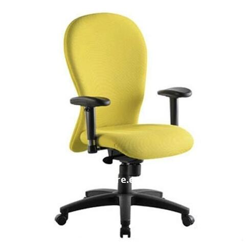 yellow office chair,ergonomic swivel fabric computer chair