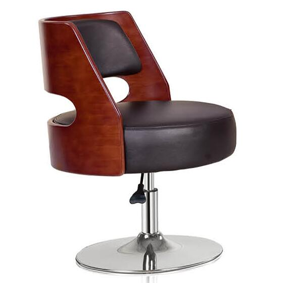 wooden leisure reception chairs,swivel lounge visitor chairs