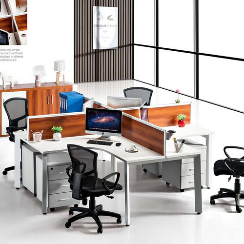 Foshan Cheap Office Table / Melamine Board Modern Office Workstation with Drawer Cabinets