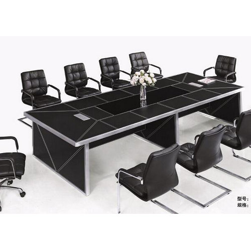 modern leather boardroom meeting conference tables / modern office furniture