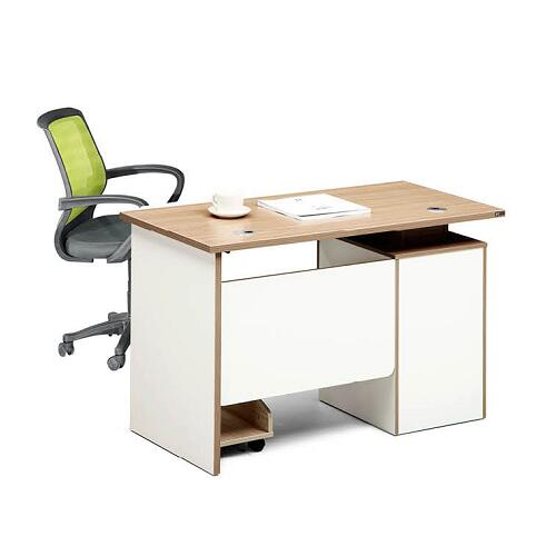 Modern Wooden Home Office Computer Table / High Quality Small Desk With Drawer And Cabinet
