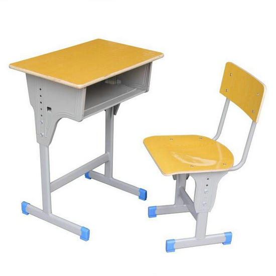 comfortable school desk and chair for student studying in classroom