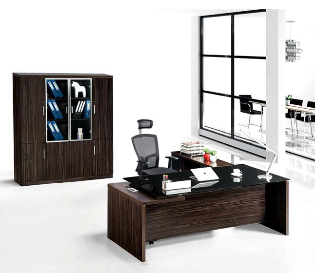 Black executive office desk new design, wooden office manager desk, melamine office executive desk