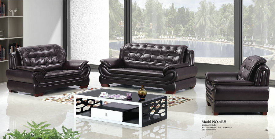 recliner office sofa / leather office sofa set / office waiting room sofa