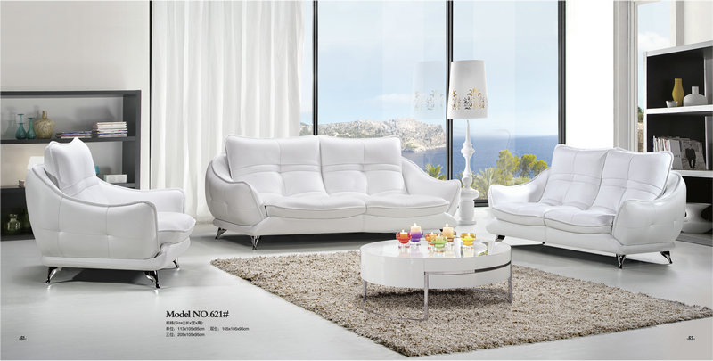 ergonomic white leather sofa / genuine leather office sofa / living room sofa