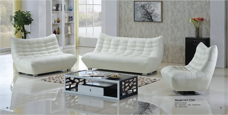 living room furniture sofa set / reclining white sofa / modern leather sofa