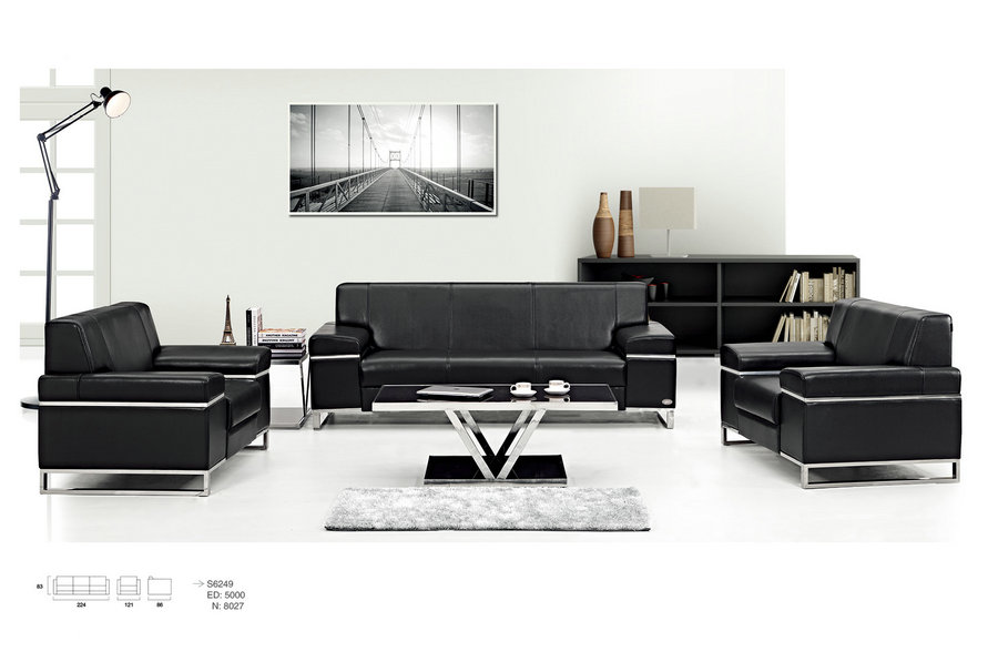 modern black leather sofa / cheap recliner sofa / china chaise sofa