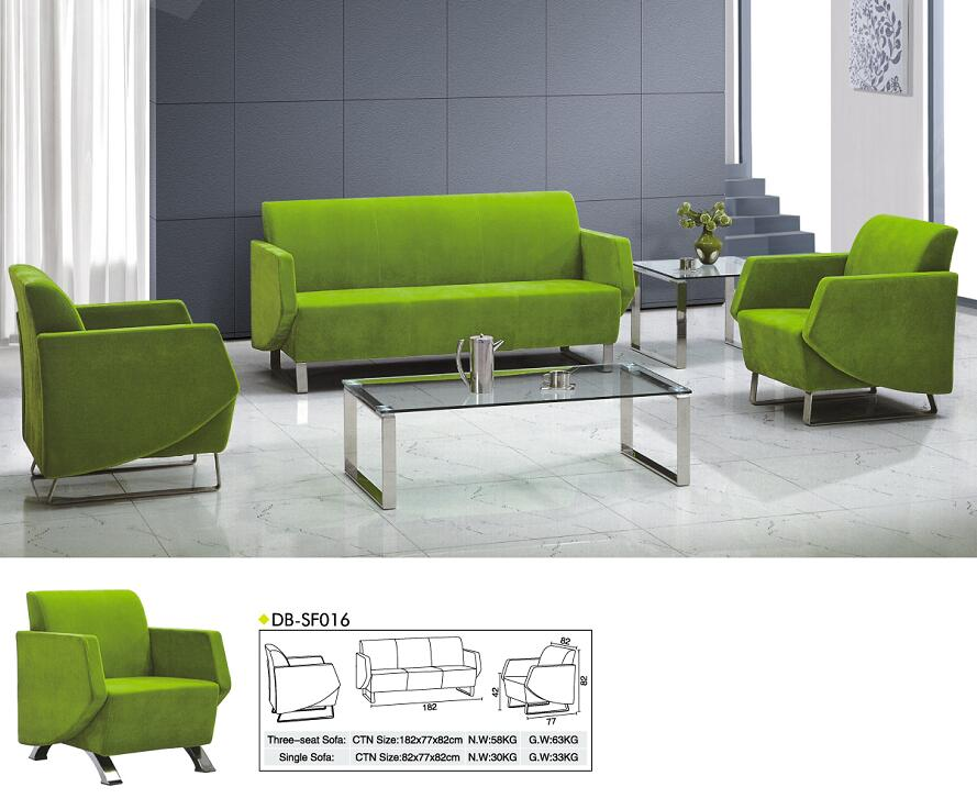cheap green fabric office sofa / living room sofa / china customized office sofa