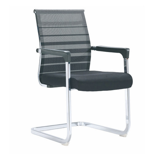 Good and comfortable waiting / meeting room metal frame chair with mesh covered
