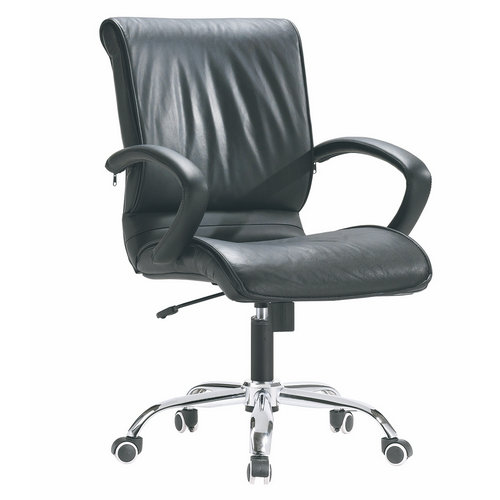 Black leather swivel computer chair office executive chair