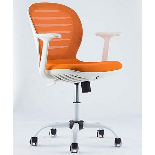 Fashion fabric staff chair / low plastic back swivel office chair china supplier
