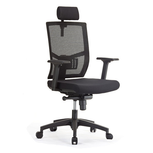 Modern high back best plastic executive computer office chair / black mesh office chairs