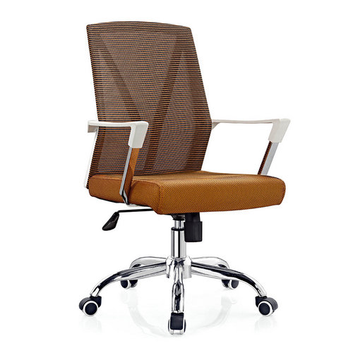 Cheap mid back metal office chair / ergonomic computer swivel chairs in Foshan