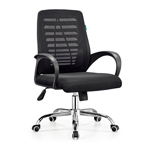 low back black swivel task mesh office chairs / meeting room chairs with armrest low price