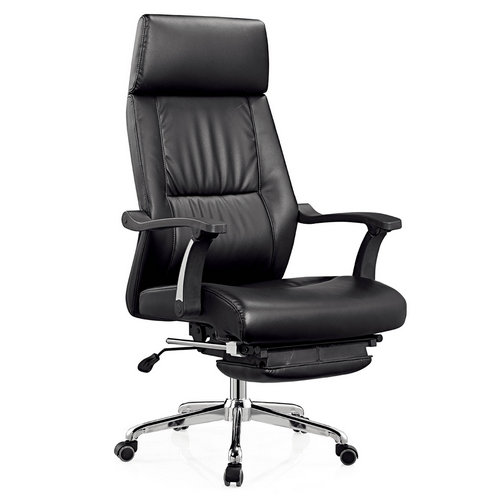 The latest designs modern reclining genuine leather office chair with footrest and adjustable lumbar