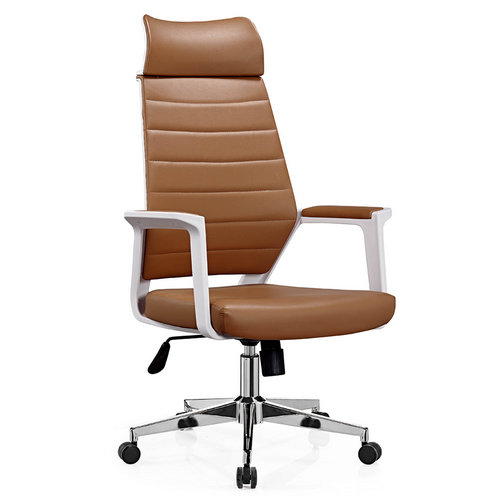 2016 new design modern executive high back brown leather ergonomic office chairs in Foshan
