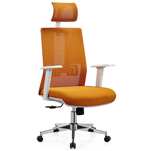 Executive ergonomic white plastic mesh office swivel chairs / Promotional office chairs