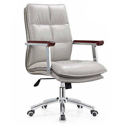 Modern mid back executive white leather swivel ergonomic office chairs