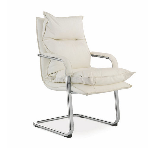 New design white mid back white leather office chair with low price conference meeting room chairs