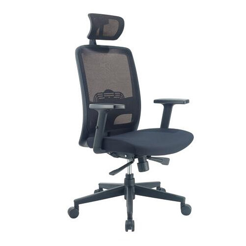 Household computer breathable black swivel ergonomic full mesh office chair with adjustable height an