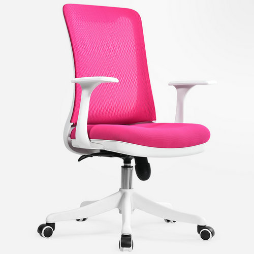 New Style Customized staff ergonomic low back pink office chairs / cheap computer swivel mesh chair