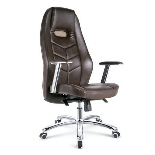 Modern office furniture visitor chair brown genuine leather office chair / ergonomic swivel office ex