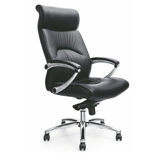 Cheap italian genuine leather executive office chair / black office computer swivel chairs