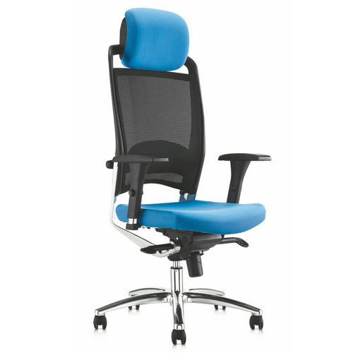 high quality blue mesh high back ergonomic office chair with footrest and headrest for office chair