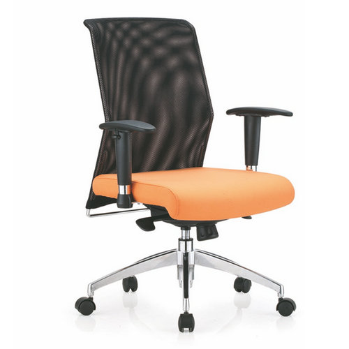 Popular Reclining Pink Mesh Office Secretary Chair WIth Armrest / Conference Meeting Room Chairs
