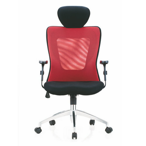 new design red computer chair, ergonomic mesh Worker staff chair with adjustable armrest nylon base