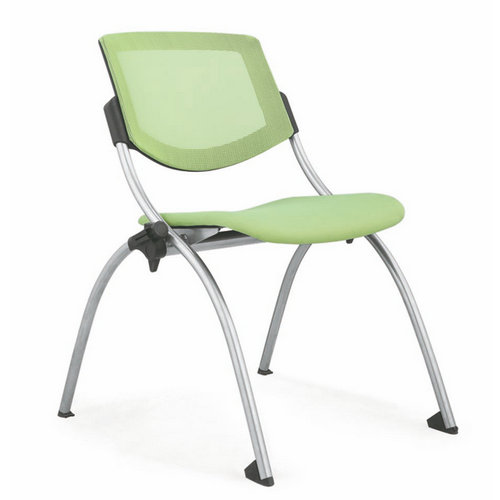 Simple OEM Middle East Green Fabric Folding Staff Office Chair / Wholesale Conference Meeting Chairs