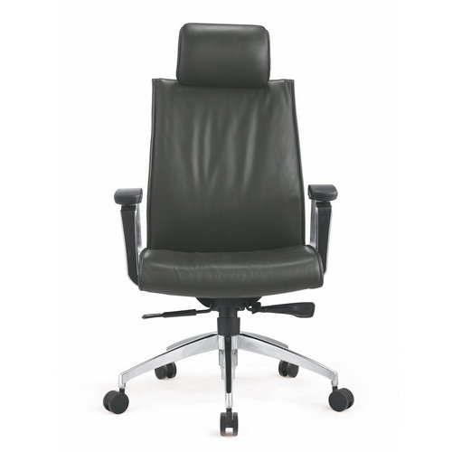 High quality manager ergonomic black leather computer swivel desk office chair for heavy people