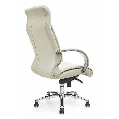ergonomic big boss manager white leather executive computer swivel chairs / new office furniture