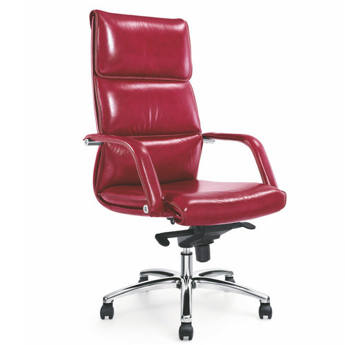 China New Product Swivel Red Leather Office Chair Adjustable Armrest Ergonomic Executive Computer Gam
