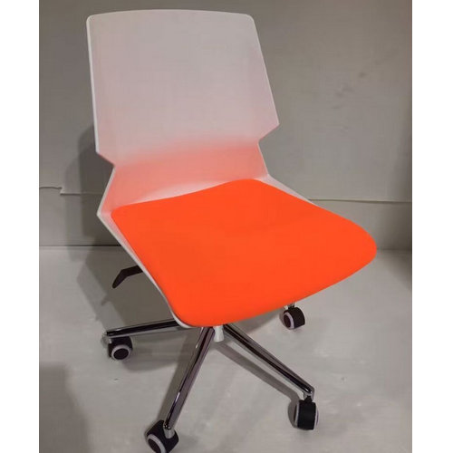 Movable design cheap pink plastic colorful furniture swivel lift office chairs / conference meeting r