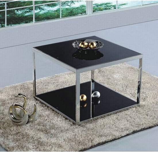 modern glass top and metal frame coffee table / furniture designs centre tables