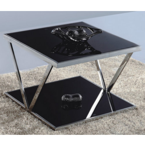 cheap metal glass living room coffee table / modern glass coffee table made in China