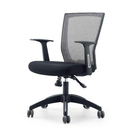 Breathable low back design commercial furniture Height-adjustable swivel office chairs / upholstered