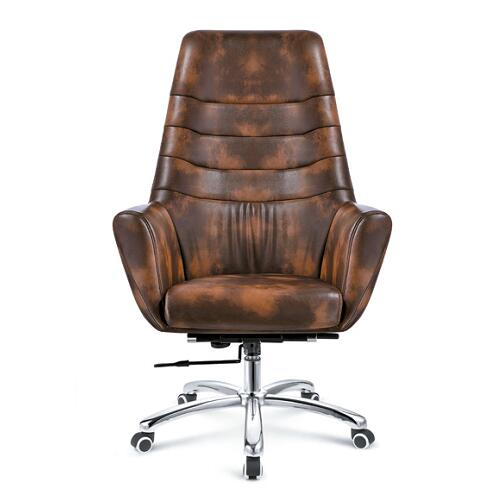 Ergonomic Big Tall Executive Full PU Leather Heavy Duty Office Chairs / Home Office Furniture