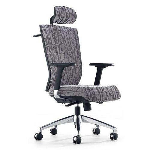 Household computer breathable white swivel ergonomic full fabric office chair with adjustable height