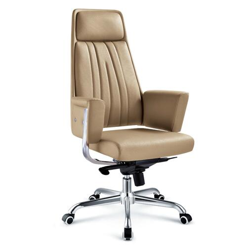 Factory direct sale swivel brown leather office chair / reclining ergonomic executive chairs made in