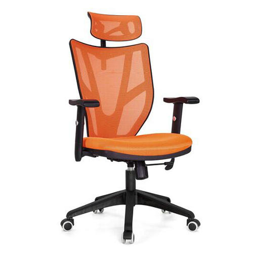 Lower Price Plastic Mesh Chair High Back Swivel Ergonomic Office Chairs Lumbar Support with Headrest